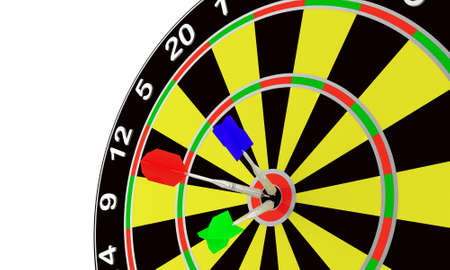 Darts and target for leisure game on a white background Stock Photo - 5468086