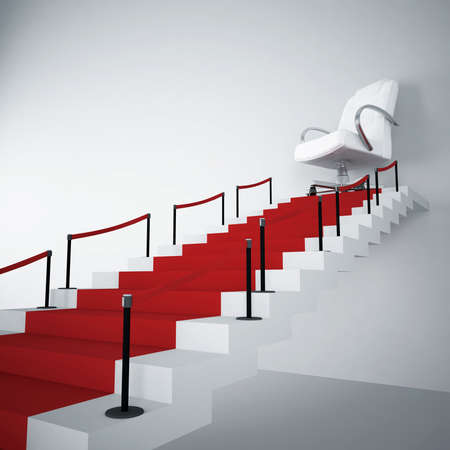 upwards stairs and modern armchair in the end of a way Stock Photo - 6033500