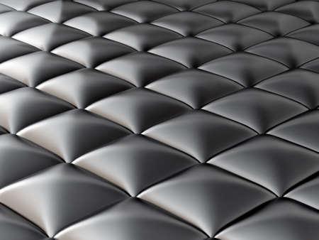 abstract smooth black metallic cubes photo