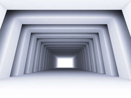 shined corridor with columns and light making the way ahead Stock Photo - 6699210