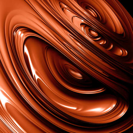 Abstract background from waves from brown hot chocolate photo