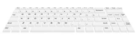 teclado: teclado de ordenador moderno con botones blancos