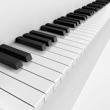 tocando el piano: claves de blancas y negro de instrumento musical
