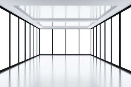 Modern empty room with light from windows Stock Photo - 7804510