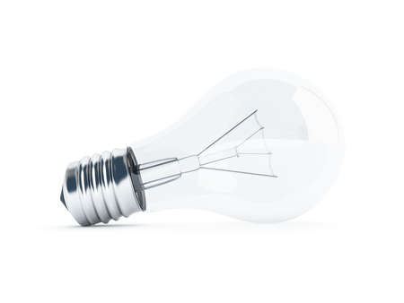 glass transparent light bulb on white background Stock Photo - 7999991