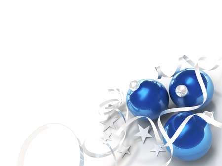 bright christmas decorations on a white background Stock Photo - 7999996