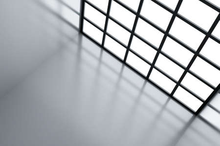 glass ceiling: Light window and wall as a futuristic background