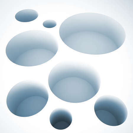 abstract round holes on a white background photo