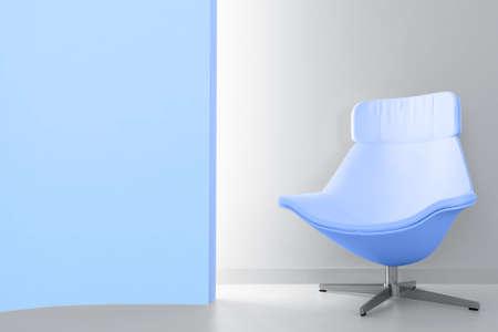 blue luxury armchair in empty light room Stock Photo - 9847165