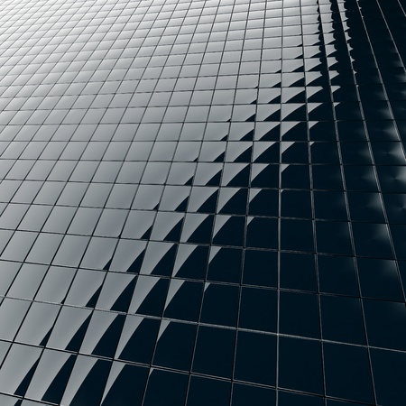 Abstract background from a modern construction material from black plastic Stock Photo