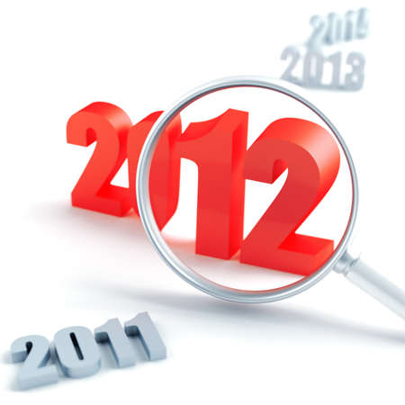 new 2012 year under magnification and other years photo
