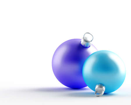 varicolored: varicolored christmas balls on a white background