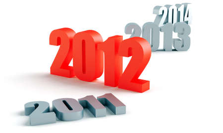 number of past and future years, and 2012 in red photo