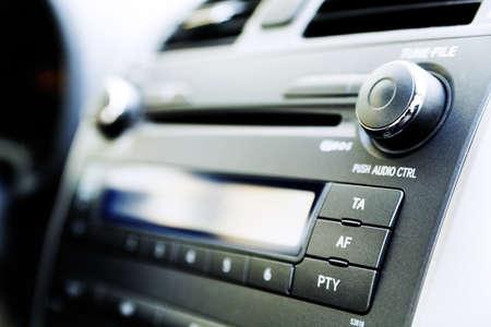 equipo de sonido: panel de control de reproductor de audio y otros dispositivos del coche