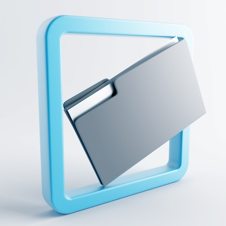 convex shape: Icon in gray-blue color on a white background Stock Photo