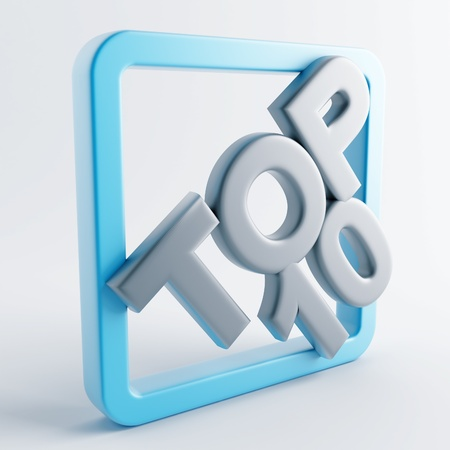 number 10: Icon in gray-blue color on a white background Stock Photo
