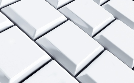 white computer keyboard as technological background photo