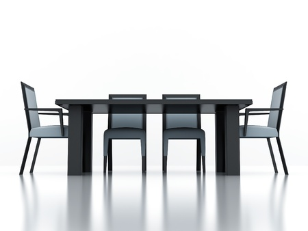 dining group with a table and chairs on a white background photo