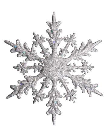 iceflower: white snow flake Stock Photo