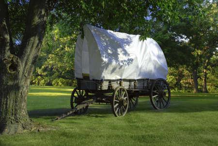 trailblazer: covered wagon Stock Photo