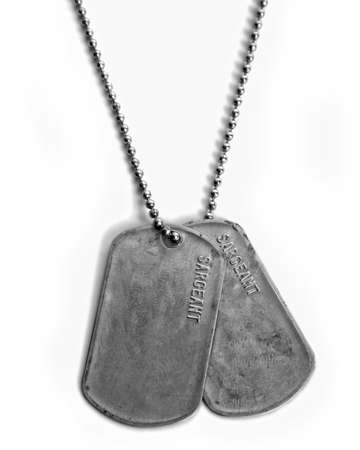 DOG TAGS Stock Photo