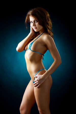 woman in a blue bikini Stock Photo - 4443408