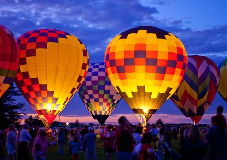 hot air: night glow Stock Photo