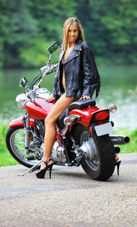 biker babe photo