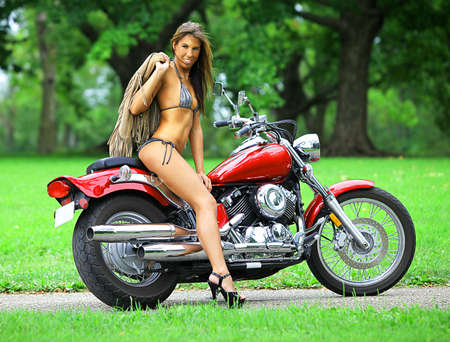 biker babe Stock Photo - 7622793
