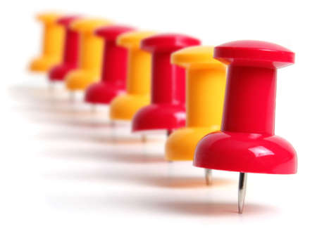 push: push pin Stock Photo