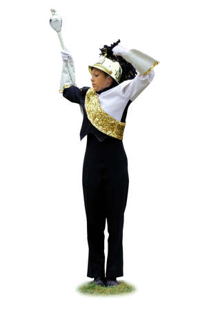 marching band: band leader Stock Photo