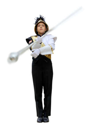 marching: band leader Stock Photo