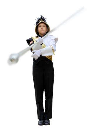 school band: band leader Stock Photo