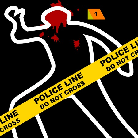 cordon tape: Crime scene