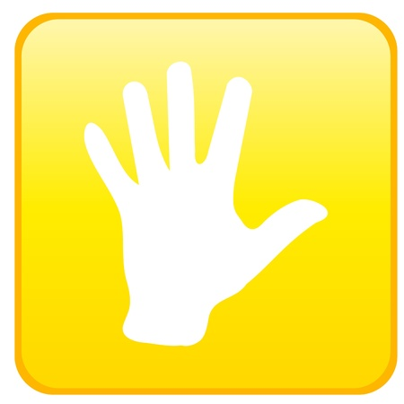 Web button - hand
