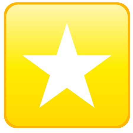 Web button - star Illustration
