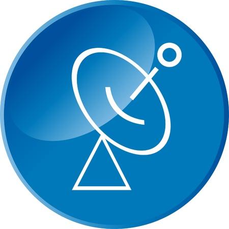 Radar web button Stock Vector - 12221378