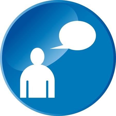 Dialog web button Stock Vector - 12221382
