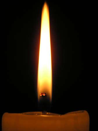 paraffine: Een vlam van een kaars paraffine
