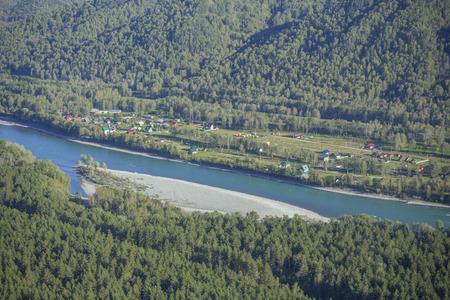 katun: Katun River Valley, Altai Republic Stock Photo