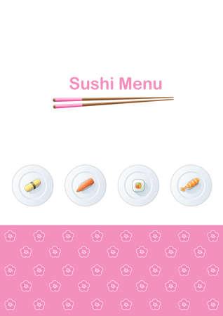 Sushi menu template Stock Vector - 3773158