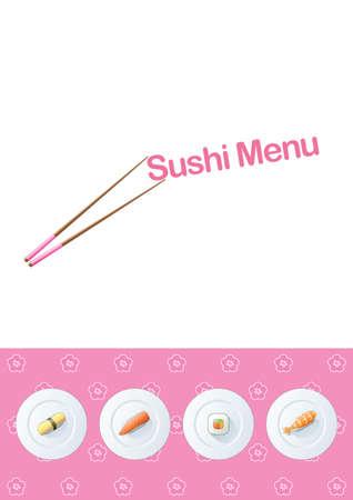 Sushi menu template Vector