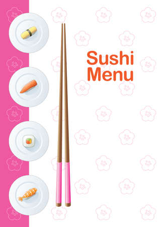Sushi menu template Vector