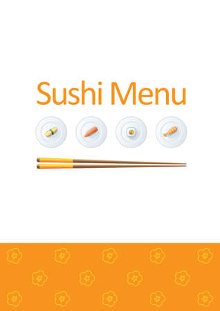 susi: Sushi menu template Illustration