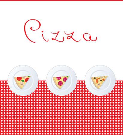 Pizza menu template Illustration