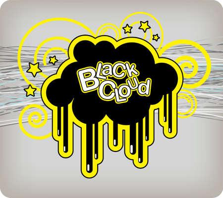 Vector illustration Black Cloud Vector