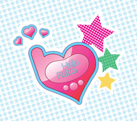 Vector cartoon heart-shaped mobile phone Vector