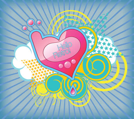 Vector illustration of the heart-shaped mobile phone Stock Vector - 4819589