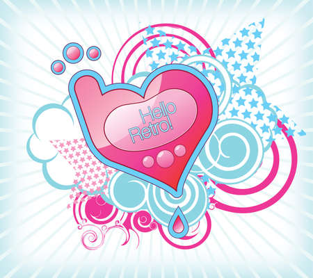 Vector illustration of the heart-shaped mobile phone Vector