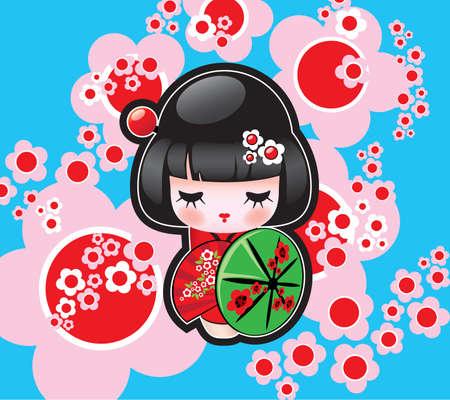 Vector Japanese Doll Stock Vector - 4819600